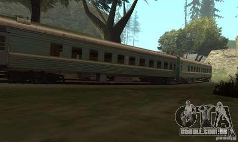 O carro das ferrovias russas 2 para GTA San Andreas vista traseira