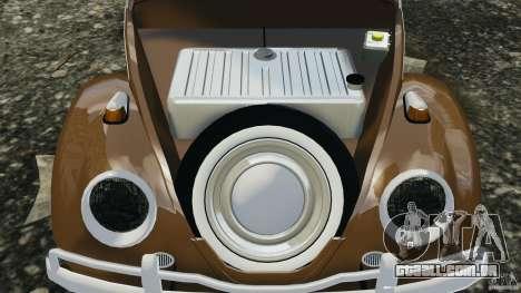 Volkswagen Fusca Gran Luxo v2.0 para GTA 4 vista superior
