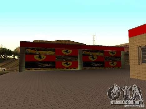 A garagem da Ferrari em Dorothy para GTA San Andreas por diante tela