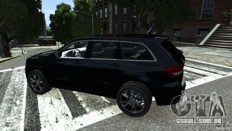 Jeep Grand Cherokee STR8 2012 para GTA 4 vista direita