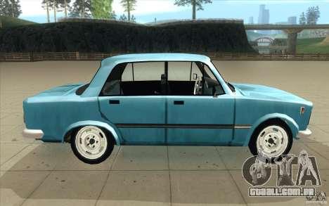 Fiat 125p para GTA San Andreas vista interior