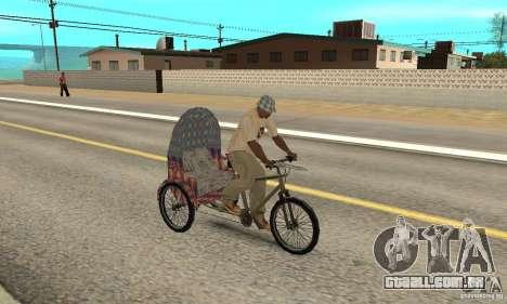 Manual Rickshaw v2 Skin5 para GTA San Andreas vista direita