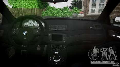 BMW M3 e46 2005 para GTA 4 vista direita
