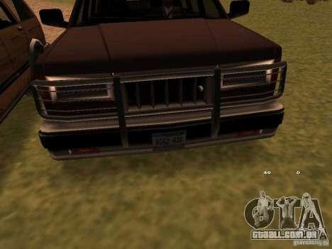 Mountainstalker S para GTA San Andreas traseira esquerda vista