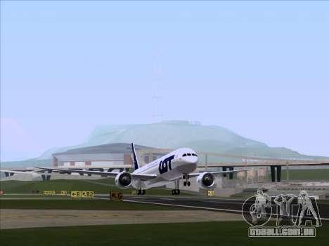 Boeing 787-9 LOT Polish Airlines para GTA San Andreas esquerda vista