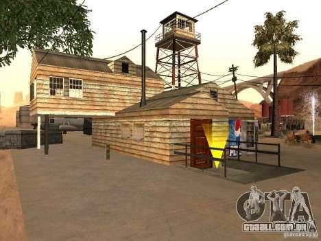 Novas instalações para o aeroporto no deserto para GTA San Andreas segunda tela