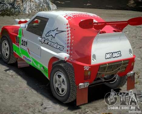 Mitsubishi Pajero Proto Dakar EK86 vinil 2 para GTA 4 vista superior