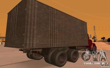 ZIL 6309 para GTA San Andreas vista traseira