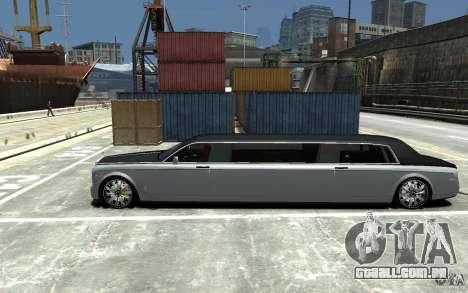 Rolls-Royce Phantom Sapphire Limousine v.1.2 para GTA 4 esquerda vista