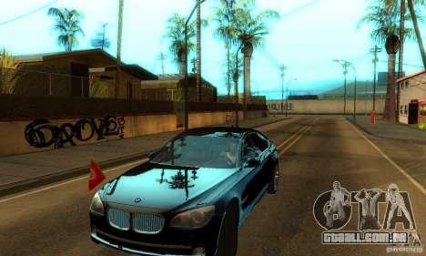 BMW 750Li para GTA San Andreas vista traseira