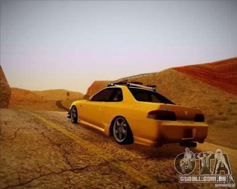 Honda Prelude Tunable para GTA San Andreas vista traseira