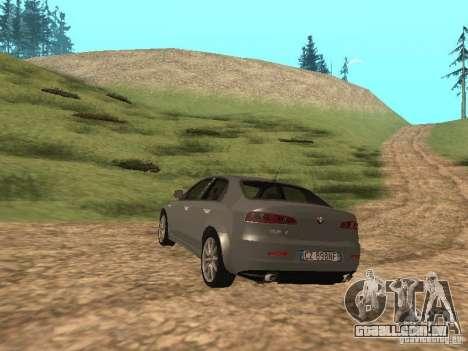 Alfa Romeo 159Ti para GTA San Andreas traseira esquerda vista