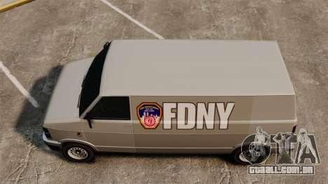 Nova coloração para van Pony para GTA 4 vista direita