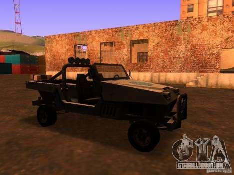 Carrinha pickup de T3 para GTA San Andreas esquerda vista