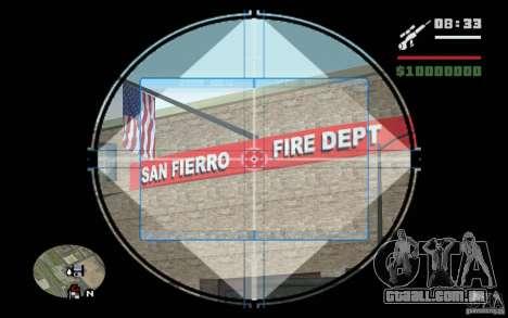 Sniper mod v. 2 para GTA San Andreas por diante tela