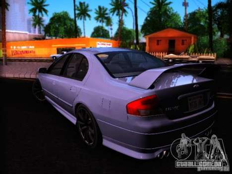 Ford Falcon FPV F6 TYPHOON XR8 2007 para GTA San Andreas esquerda vista