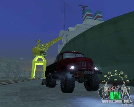 ZIL 131 petroleiro para GTA San Andreas vista interior