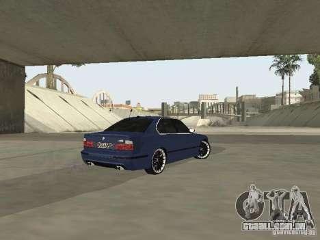 BMW M5 E34 V2.0 para GTA San Andreas traseira esquerda vista