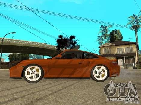 Porsche 911 Turbo S para GTA San Andreas esquerda vista