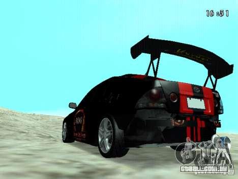 Toyota Altezza NKS Drift para GTA San Andreas esquerda vista