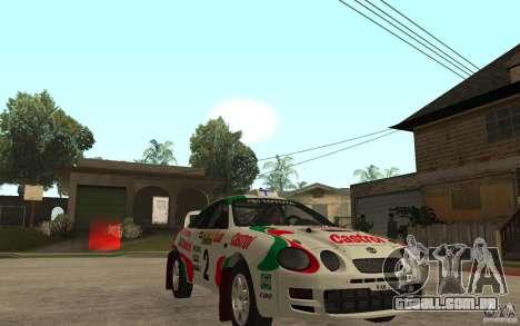 Toyota Celica GT4 DiRT para GTA San Andreas vista traseira