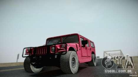 Hummer H1 Alpha Off Road Edition para GTA San Andreas vista traseira
