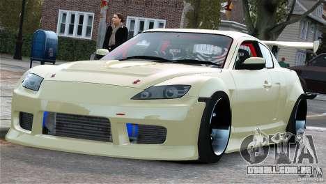 Mazda RX-8 Mad Mike para GTA 4 esquerda vista