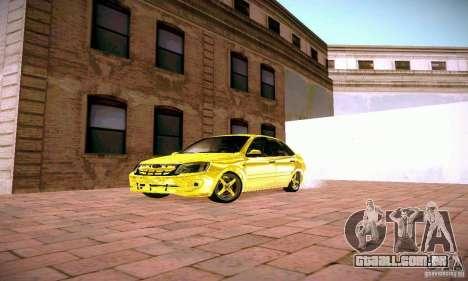 Lada Grant ouro para GTA San Andreas vista traseira