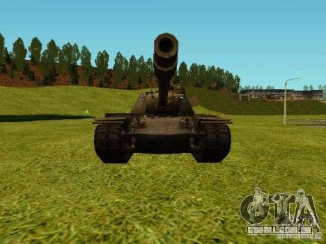 T-110E5 para GTA San Andreas traseira esquerda vista