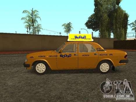 GAZ 3110 táxi para GTA San Andreas esquerda vista