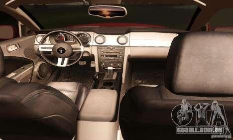 Ford Mustang GT Tunable para GTA San Andreas vista superior