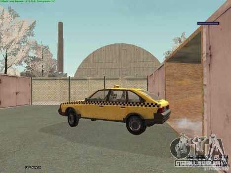 AZLK Moskvich 2141 táxi v2 para GTA San Andreas interior