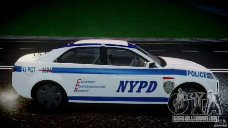 Carbon Motors E7 Concept Interceptor NYPD [ELS] para GTA 4