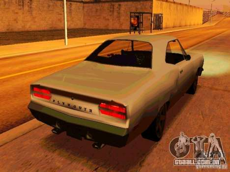 Plymouth Road Runner 426 HEMI 1970 para GTA San Andreas vista direita