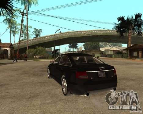 Audi A6 3.0 TDI Quattro para GTA San Andreas traseira esquerda vista