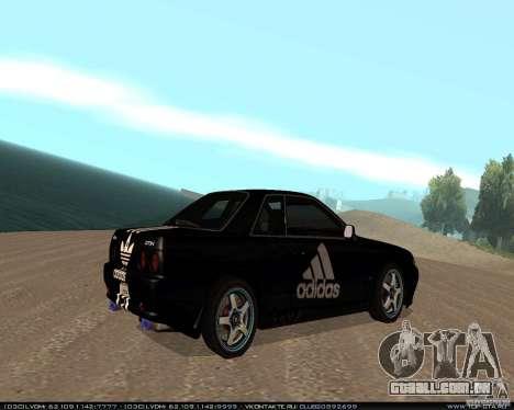 Nissan Skyline R32 GT-R + 3 vinil para GTA San Andreas vista direita