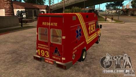 Iveco Daily UR Bombeiros SP para GTA San Andreas vista direita