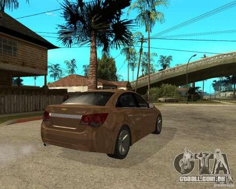 Chevrolet Cruze para GTA San Andreas traseira esquerda vista