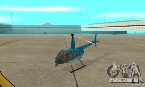 Robinson R44 Raven II NC 1.0 TV para GTA San Andreas esquerda vista