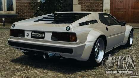 BMW M1 Procar para GTA 4 traseira esquerda vista