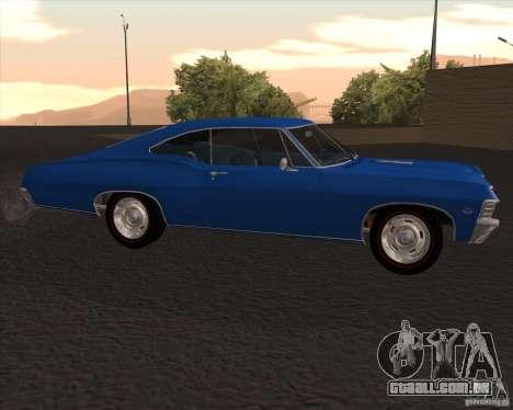 Chevrolet Impala 427 SS 1967 para GTA San Andreas esquerda vista