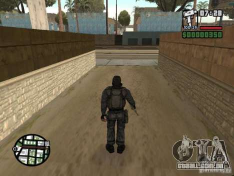 Mercenário de perseguidor em máscara para GTA San Andreas terceira tela