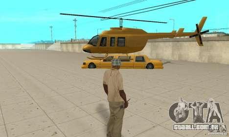 VIP TAXI para GTA San Andreas por diante tela