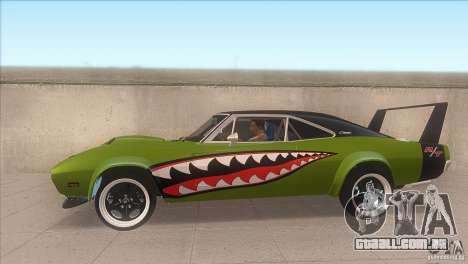 Dodge Charger RT SharkWide para GTA San Andreas esquerda vista