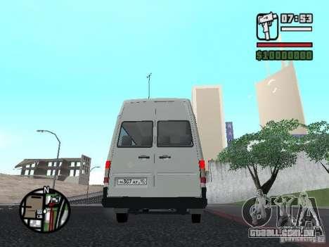 Volkswagen LT 35 Passažirsikj para GTA San Andreas traseira esquerda vista