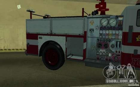 FIRETRUCK para GTA San Andreas vista interior