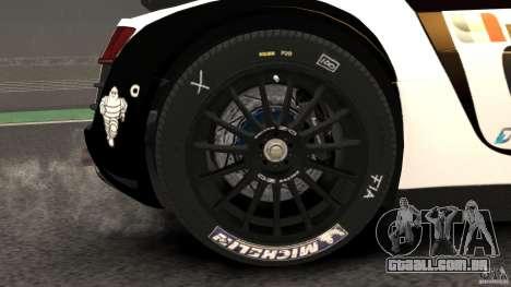 Audi R8 LMS para GTA 4 vista lateral