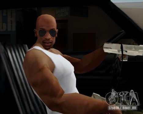 Óculos azuis aviador para GTA San Andreas quinto tela