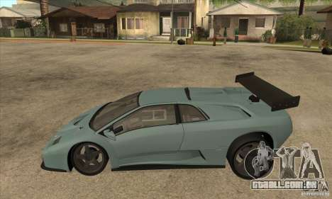 Lamborghini Diablo GT-R para GTA San Andreas esquerda vista