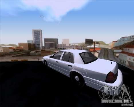 Ford Crown Victoria 2009 Detective para GTA San Andreas traseira esquerda vista